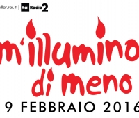 Edition 2016 of the awareness campaign on energy saving M'illumino di meno (I enlighten me less)