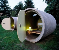 Accommodation and rooms in cement pipes: new types of sustainable architecture and energy efficiency from the World