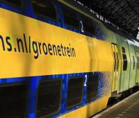 Train powered by wind power to reduce emissions in the Netherlands