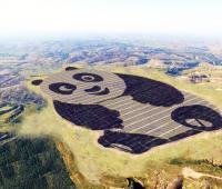 Solar energy and energy efficiency in China thanks to the first, shaped like panda