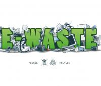 Devices of recycled materials in order to product electronic wastes