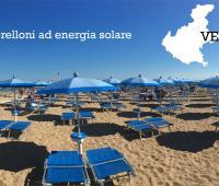 Ombrellone ad energia solare sulle spiagge del Veneto