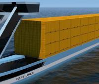 La nave elettrica Tesla of the Canals zero emissions e senza equipaggio