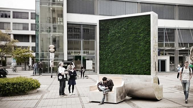 Pannelli vegetali verticali per pulire l'aria citytrees