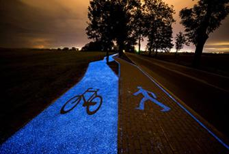 The first bike path powered by solar energy in Poland