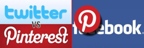 pinterest vs twitter e facebook