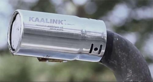 Kaalink device to collect smog and produce ink from ehaustive pipe