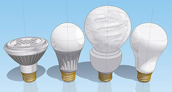 Incandescent bulbs and LED