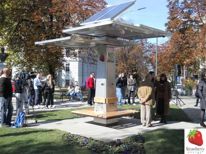 Trees solar charging devices and energy efficiency