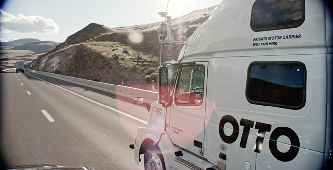 Start up Otto truck without driver