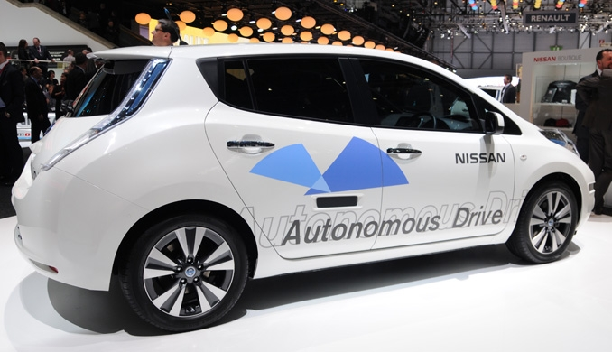 The car of the future with autonomous driving. Drive for the man will be illegal
