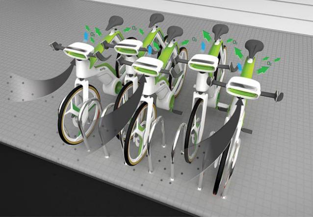 The bicycle that purifies the air